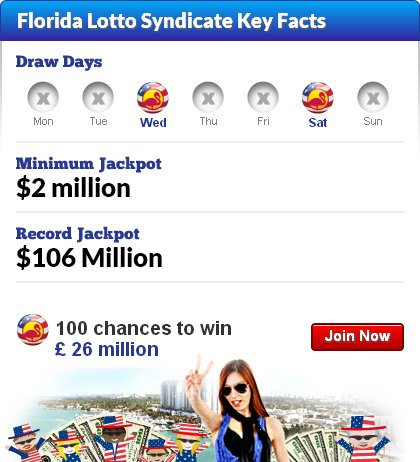 100 chances to win £ 26 million on the Florida Lotto
